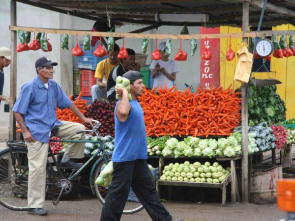 Een markt in Nicaragua