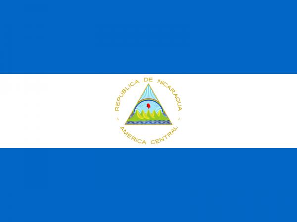 De vlag van Nicaragua