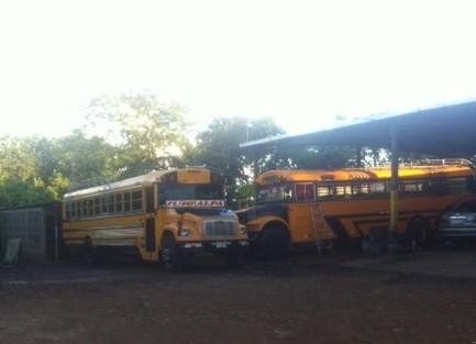Foto van bussen in Juigalpa