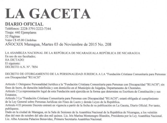 foto van gaceta