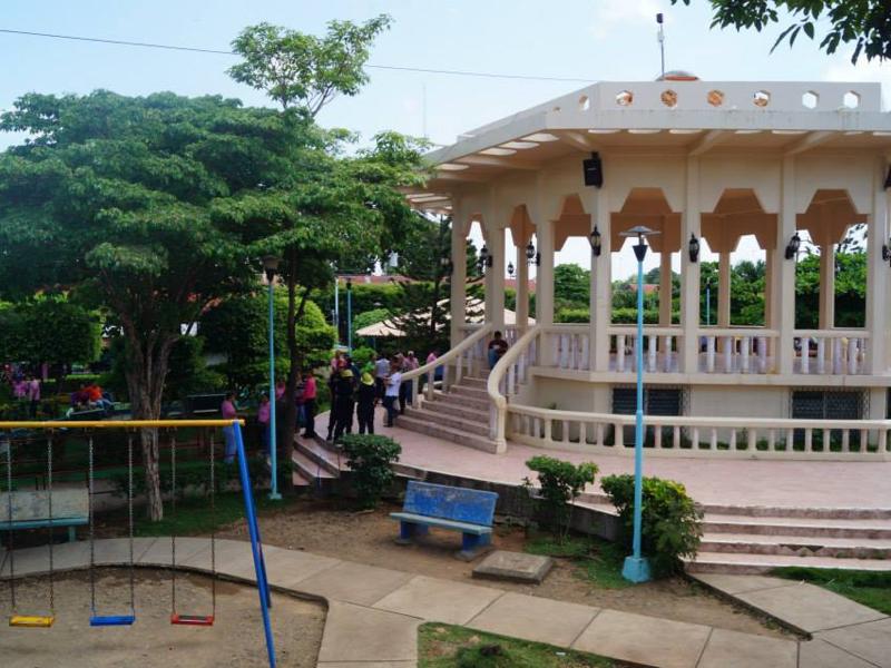 Centraal plein van Juigalpa