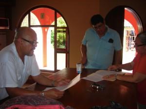 contract wordt getekend
