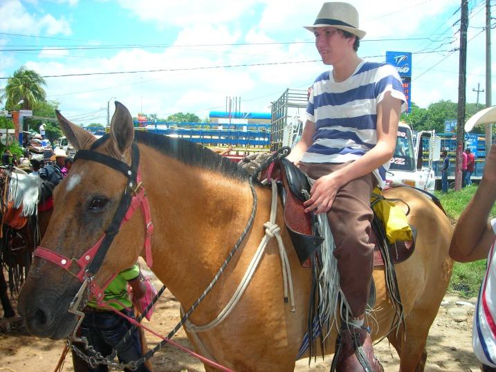 Jonathan te paard