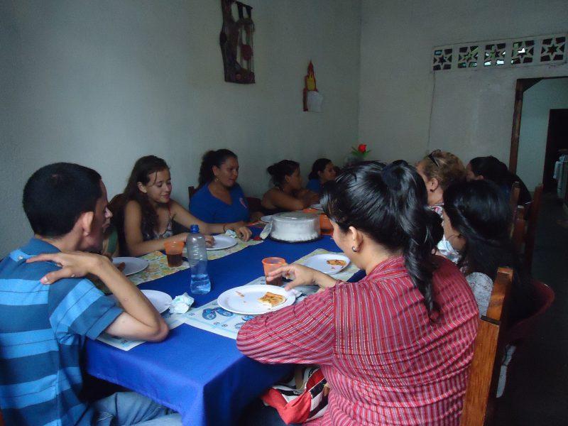 foto van lunch met medewerkers
