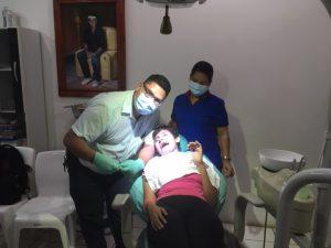 Foto van bezoek tandarts
